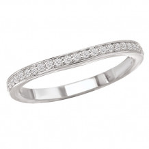 La Vie 14k White Gold Curved Wedding Band
