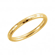 Stuller 14k Yellow Gold Comfort Fit Hammer Finish Wedding Band