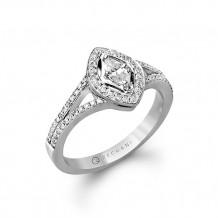 Zeghani 14k White Gold Diamond Engagement Ring