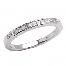 La Vie 14k White Gold Diamond Wedding Band