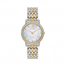Citizen Silhouette Crystal Ladies Two Tone Stainless Steel Watch