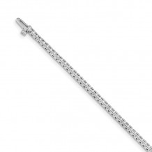Quality Gold 14k White Gold AAA Diamond Tennis Bracelet - X729WAAA