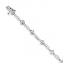 Quality Gold 14k White Gold AA Diamond Tennis Bracelet - X646WAA