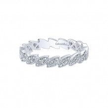 Gabriel & Co. 14k White Gold Diamond Stackable Ladies' Ring