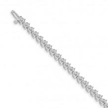Quality Gold 14k White Gold AA Diamond Tennis Bracelet - X2841WAA