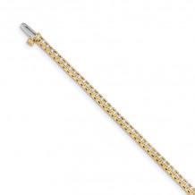 Quality Gold 14k Yellow Gold A Diamond Tennis Bracelet - X729A