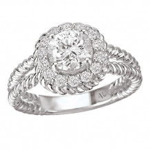 La Vie 14k White Gold Semi-Mount Diamond Engagement Ring
