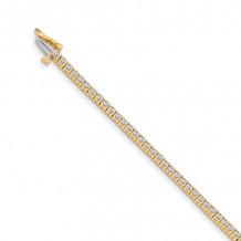 Quality Gold 14k Yellow Gold AA Diamond Tennis Bracelet - X600AA