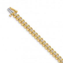 Quality Gold 14k Yellow Gold AA Diamond Tennis Bracelet - X2030AA