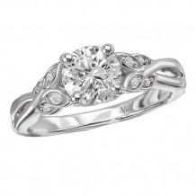 14k White Gold Semi-Mount Diamond Engagement Ring