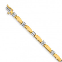Quality Gold 14k Yellow Gold AA Diamond Tennis Bracelet - X2363AA
