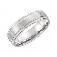 Stuller 14k White Gold Comfort Fit Satin Finish Men's Wedding Band