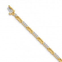 Quality Gold 14k Yellow Gold A Diamond Tennis Bracelet - X787A