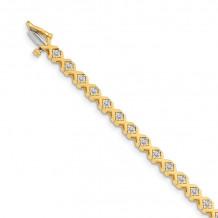 Quality Gold 14k Yellow Gold VS Diamond Tennis Bracelet - X721VS