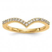 Quality Gold 14k Yellow Gold Diamond V Ring - Y13740A