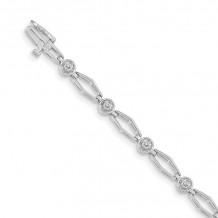 Quality Gold 14k White Gold VS Diamond Tennis Bracelet - X789WVS