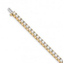 Quality Gold 14k Yellow Gold AAA Diamond Tennis Bracelet - X2046AAA