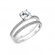 Zeghani Beautiful Solitaire Diamond Engagement Ring