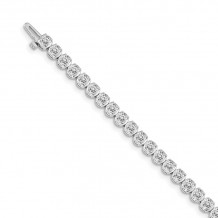 Quality Gold 14k White Gold Diamond Tennis Bracelet - X10009WVS