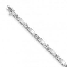 Quality Gold 14k White Gold A Diamond Tennis Bracelet - X2361WA