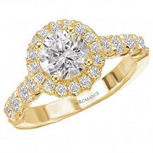 18k Yellow Gold Halo Diamond Engagement Ring