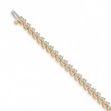 Quality Gold 14k Yellow Gold AA Diamond Tennis Bracelet - X2841AA