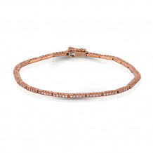 Zeghani 14k Rose Gold Diamond Bracelet
