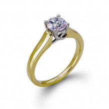 Zeghani 14k Yellow Gold Diamond Engagement Ring