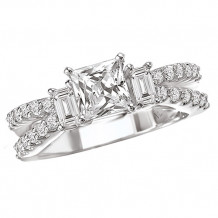 La Vie 14k White Gold Semi-Mount Engagement Ring