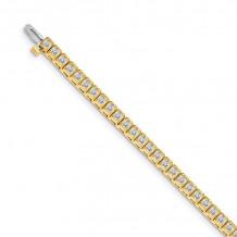 Quality Gold 14k Yellow Gold AAA Diamond Tennis Bracelet - X2894AAA