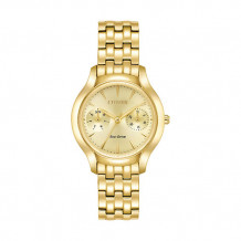 Citizen Chandler Ladies Yellow Stainless Steel Watch