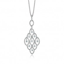 Zeghani Glamorous Pendent With White Diamonds
