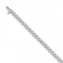 Quality Gold 14k White Gold Diamond Tennis Bracelet - X10007WAA