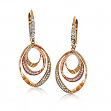 Zeghani 14k Two-Tone Gold Diamond Earrings