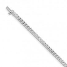 Quality Gold 14k White Gold A Diamond Tennis Bracelet - X731WA