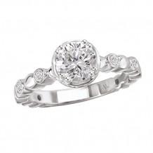 La Vie 14k White Gold Semi-Mount Diamond Engagement Ring