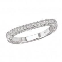 La Vie 14k White Gold Curved Diamond Wedding Band