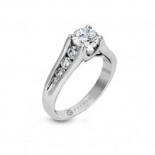 Zeghani Graduated Channel Set Diamond Engagement Ring