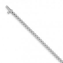 Quality Gold 14k White Gold Diamond Tennis Bracelet - X10003WAAA