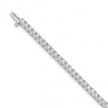 Quality Gold 14k White Gold A Diamond Tennis Bracelet - X734WA