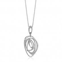 Zeghani 14k White Gold Diamond Pendant