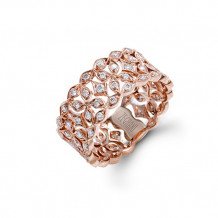 Zeghani 14k Rose Gold Diamond Ring