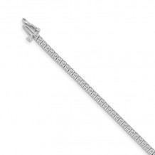 Quality Gold 14k White Gold AA Diamond Tennis Bracelet - X600WAA