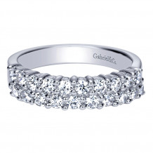Gabriel & Co 14k White Gold Diamond Fancy Anniversary Band