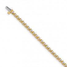 Quality Gold 14k Yellow Gold AA Diamond Tennis Bracelet - X630AA