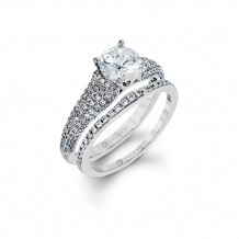 Zeghani 14k White Gold Diamond Engagement Ring Set