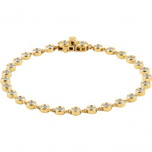 Stuller 14k Yellow Gold Diamond Line Bracelet