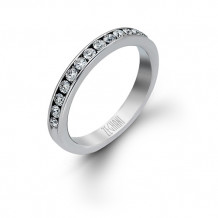 Zeghani 14k White Gold Diamond Wedding Band