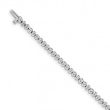 Quality Gold 14k White Gold Diamond Tennis Bracelet - X10003WAA