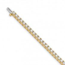 Quality Gold 14k Yellow Gold VS Diamond Tennis Bracelet - X2044VS